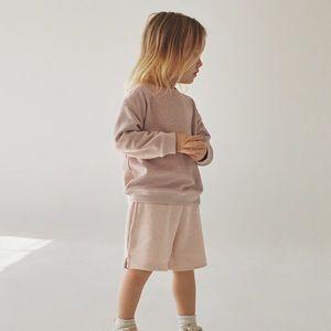NWT Zara 3-4Y pink terrycloth sweatshirt